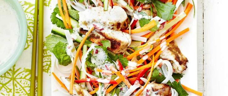 Eating healthily doesn't mean you have to deny yourself. This chicken noodle salad is full of delicious, vibrant Thai flavours, is quick and easy to make and healthy too.