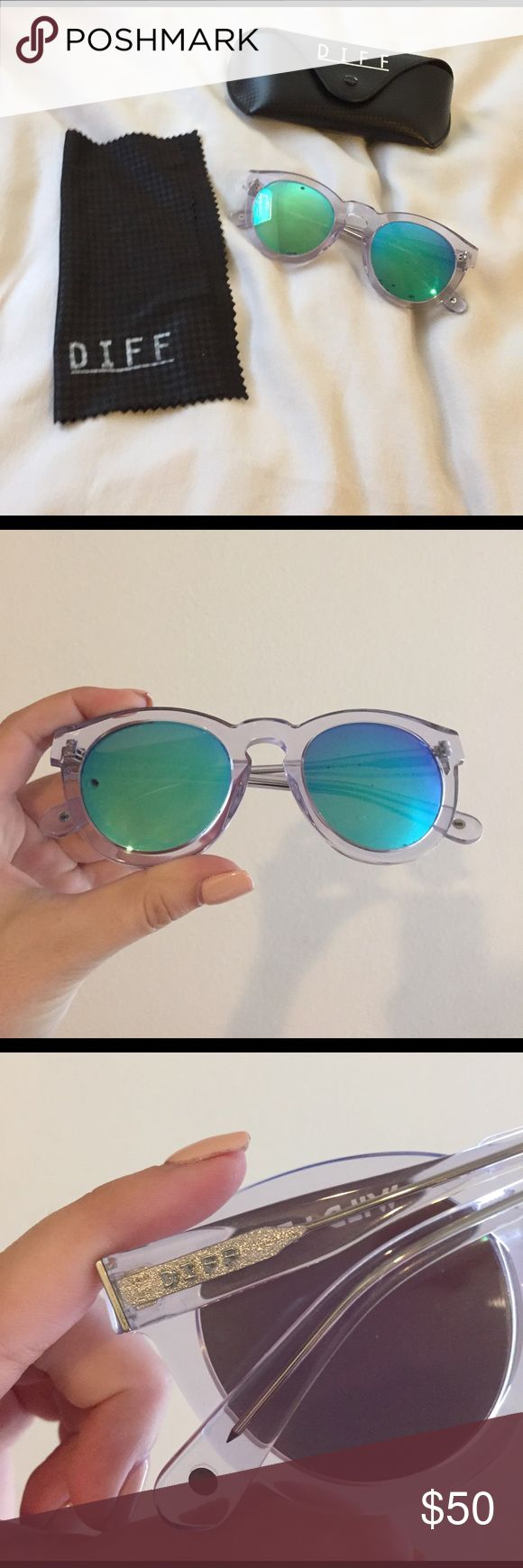 1 hour sale $45 will ship tomorrow! 🔥🔥 Sunglasses clear frame colored lenses DIFF eyewear Accessories Glasses