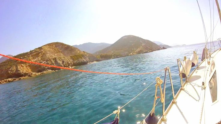 """Explore #Crete with #Blu boat! Photo taken on """"Blu"""" from a trip to Rethymno coastline! Travel with our #sailing boat and live the dream! sailingtheblu@gmail.com"""