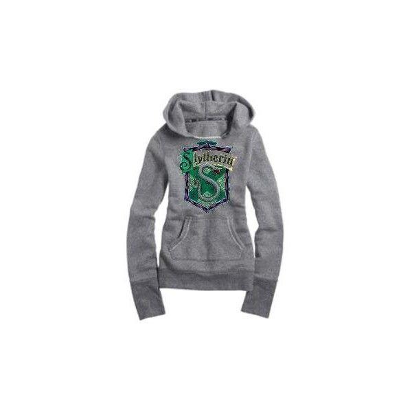 slytherin hoodie (: ❤ liked on Polyvore featuring tops, hoodies, harry potter, slytherin, jackets, hoodie top, hooded sweatshirt, hooded pullover and sweatshirt hoodies