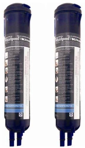 Whirlpool 4396710P KitchenAid PUR Push Button Cyst-Reducing  Side-by-Side Refrigerator Water Filter  2-Pack: This 2-pack premium push-button refrigerator water filter is used in Whirlpool and KitchenAid side-by-side refrigerators with filter access in the base grille. Simply press the release button to remove and replace the refrigerator water filter. While retaining beneficial fluoride, this NSF-certified refrigerator water filter...  Click Image For more Details