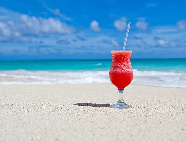 You can never have too much beach or cocktails! #GastonLuga #anywherewithGL #Caribbean