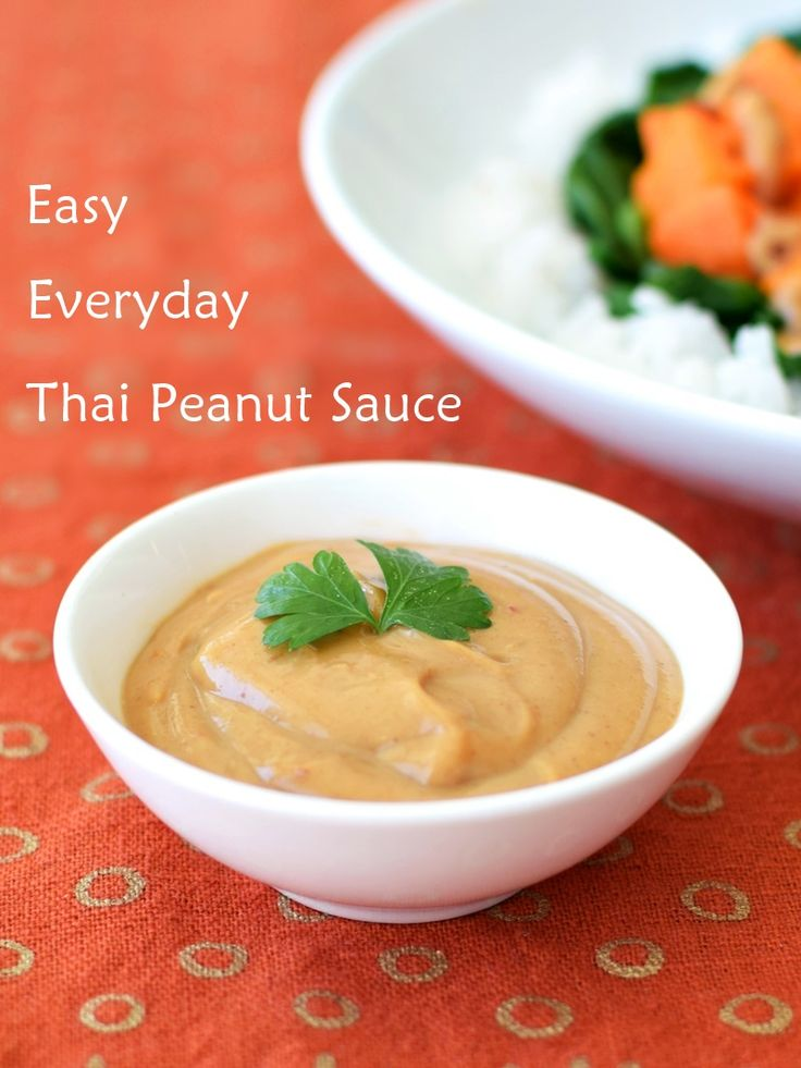 "Easy Everyday Thai Peanut Sauce - It's not ""authentic"" but it is that go-to, delicious, versatile, 10-minute recipe that uses easy-to-find ingredients for quick, flavorful meals. Naturally dairy-free, gluten-free, vegan and paleo optional."