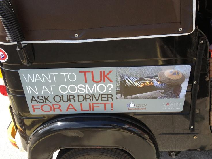 COSMO Tuk Tuk advert.
