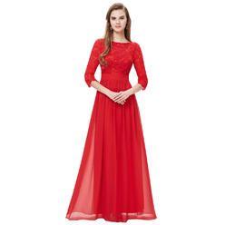 Ever Pretty Womens Lace Long Sleeve Floor Length Evening Dress 08412 - Sears