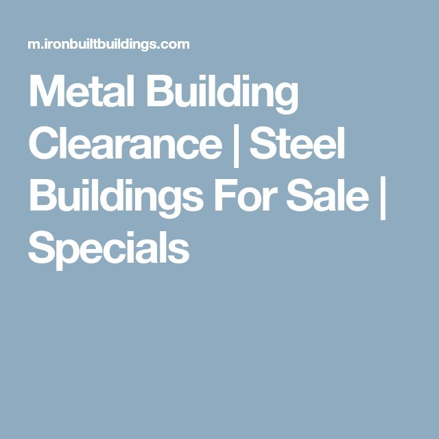 Metal Building Clearance   Steel Buildings For Sale   Specials