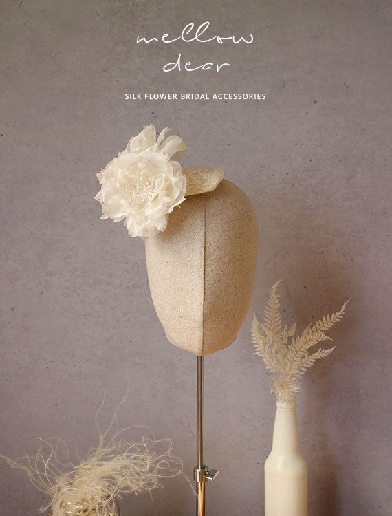 Silk Organza Peony  Bridal Hair piece by mellowdear on Etsy  Handmade Silk FLower