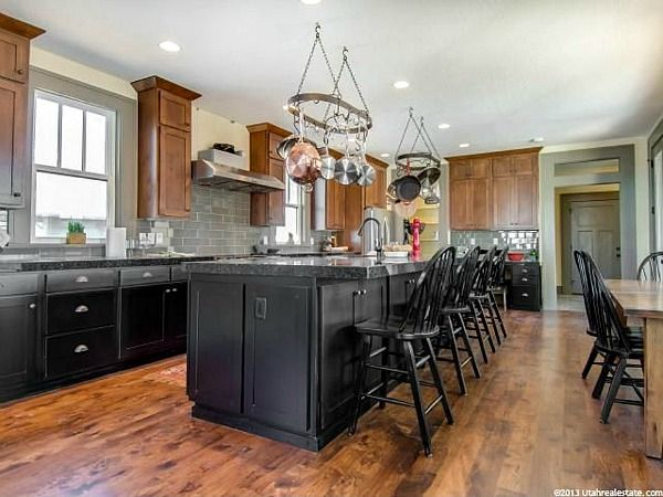Kitchen colors utah and black on pinterest for Kitchen cabinets utah