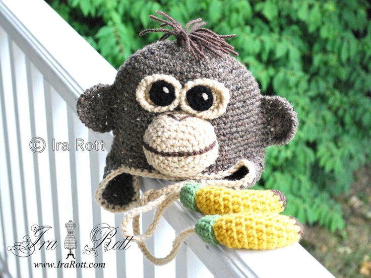 Mono del orangután del sombrero con el plátano Ties Ejecuciones de 6 porción IraRott