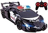 Law enforcement RC Car Toy Super Amazing Large 12 Remote Control Sports Car along with Working Headlights Police Lights Competition Car Toy (BLACK)