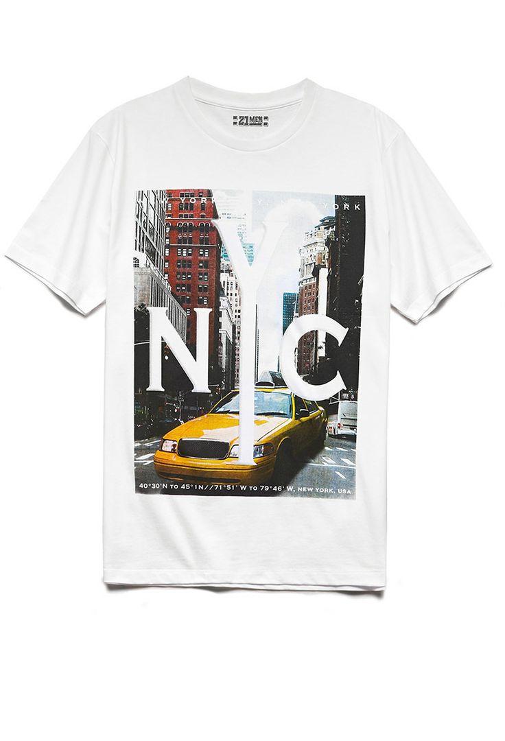 NYC Cab Tee | 21 MEN TAXI! #21Men #NY #GraphicTee