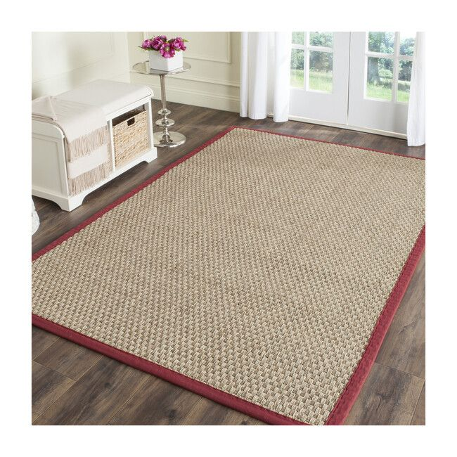 Natural Fiber Ruby Rug Beige Red Safavieh Rugs Maisonette In 2021 Area Rugs Natural Fiber Rugs Seagrass Rug Natural fiber rugs that are soft