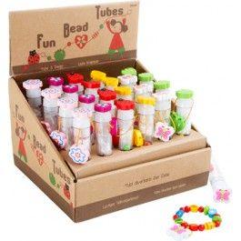 Display Fädelperlen in Schmuckröhre - Spielzeug günstig bei Kasperini Online Shop für Spielzeug Spielwaren und Holzspielzeug kaufen