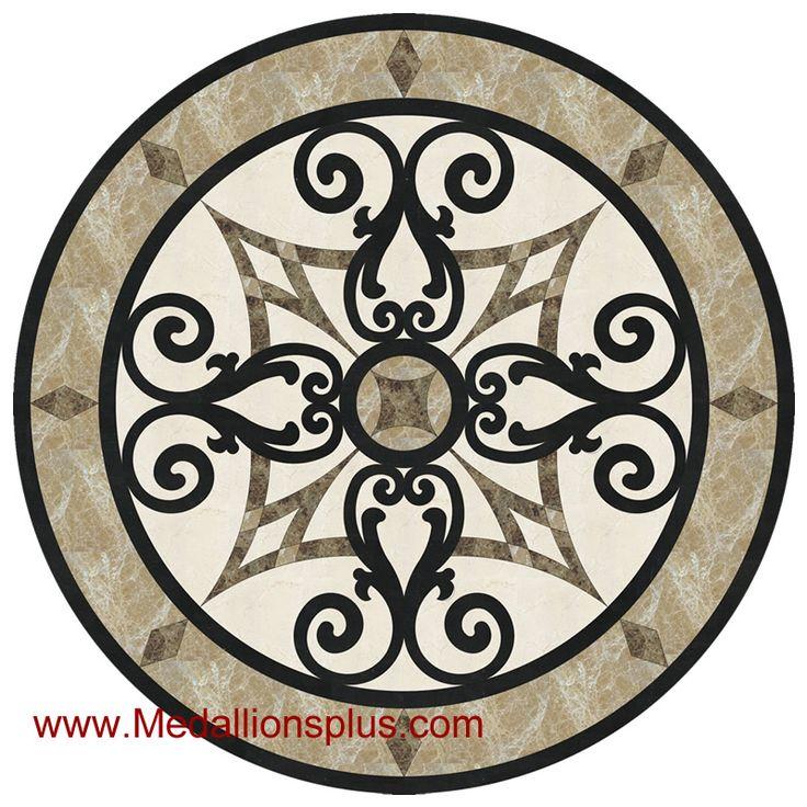 kristine ii 24 stone floor medallion floor medallions on sale tile. Black Bedroom Furniture Sets. Home Design Ideas
