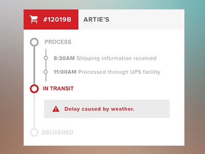 Dribbble - Delivery Tracking by Christine Yoon