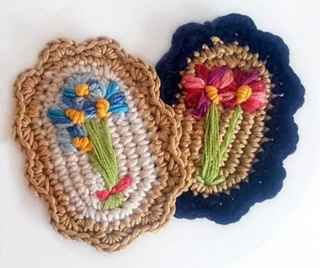 Vintage Crochet Brooch - video tutorial