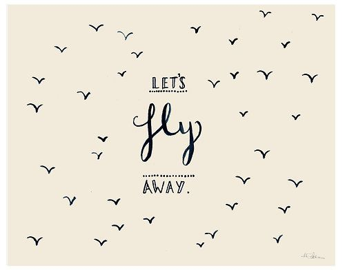 Typographic Illustration, Inspiration, Words Design, Airplanes Quotes, Art, Travel, Fly Away, Birds, The Moon