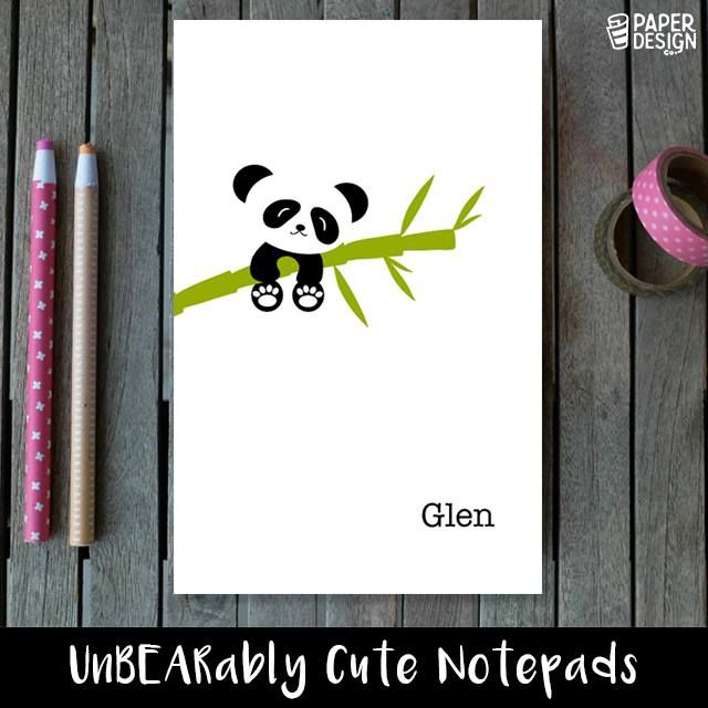 A global favorite, the panda makes its way onto our notepads! Printed with three simple colors, this notepad can be personalized with your name. #kids #kidsnotepads #cutenotepad #cutestationery #kidsstationery #notepadsforkids #stationeryforkids #juniorkidsstationery #Bangalore #india