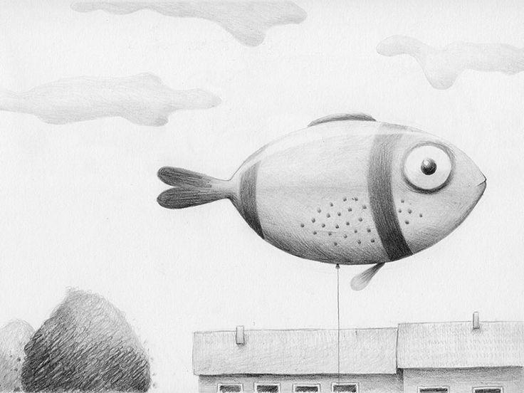 Balloonfish - andrearingli illustration