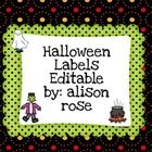 In this set of Halloween labels you will find one sheet of each of the following clip art on labels(bat, potion, Bride of Frankenstein, cauldron, candy, Frankenstein, mummy, ghost, witch, vampire, werewolf...and more!)