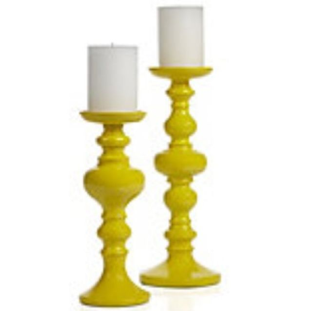 Yellow Décor/ Decorating with Yellow Ideas| Yellow candle holders
