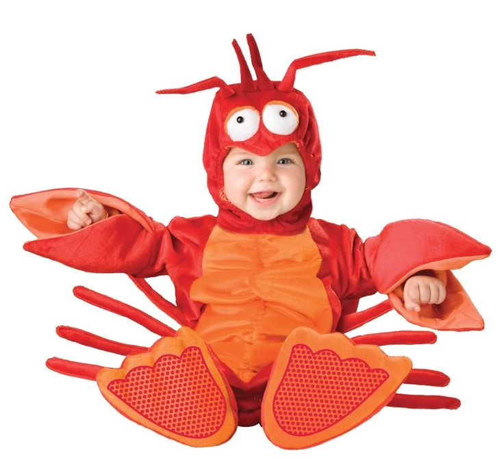 Lobster Costume Bunting Little Mermaid Sebastian Infant Toddler Baby 12 24 Mos | eBay