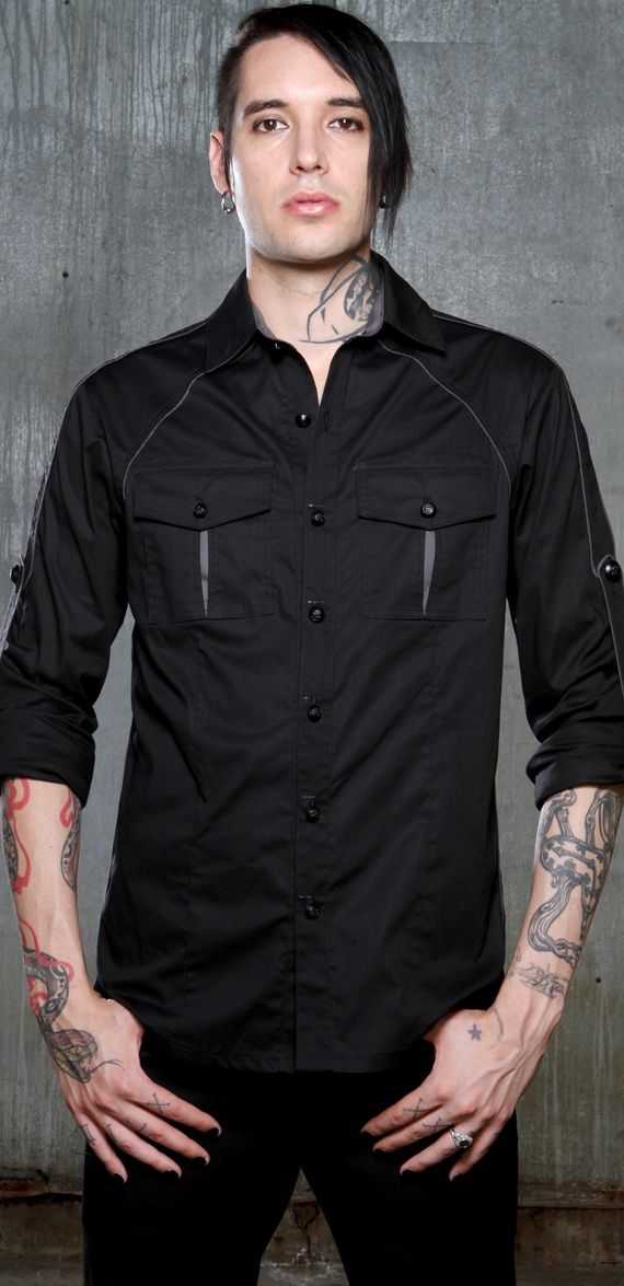 Perfect. Black button up long sleeve shirt for the office and not having to worry about going over board on the buckles and straps.
