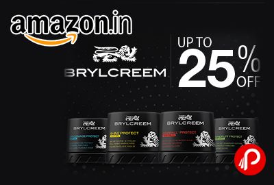 Amazon is offering Upto 25% off on Brylcreem Hair Care and Styling Products.  http://www.paisebachaoindia.com/brylcreem-hair-care-and-styling-products-upto-25-off-amazon/