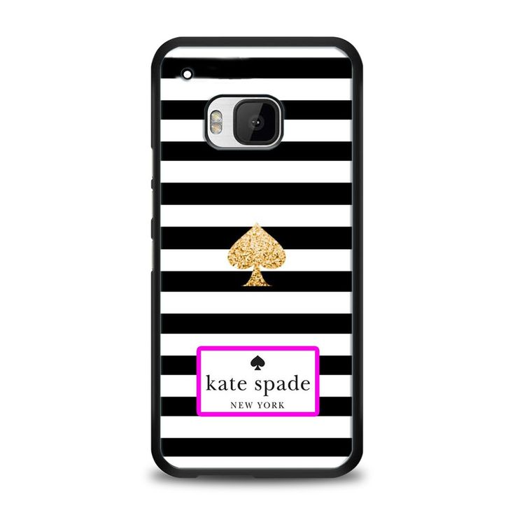Kate Spade Black White Strip HTC One M9 | yukitacase.com