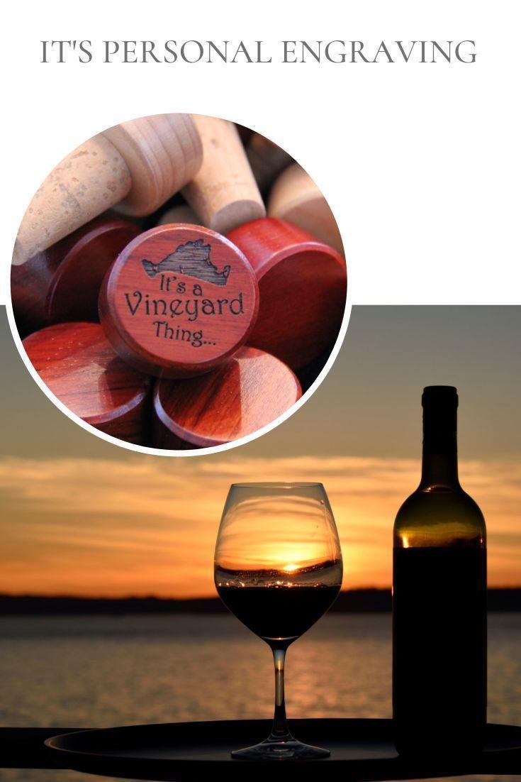 Martha S Vineyard Wine Bottle Stopper Engraved Wine Cork Favors For Weddings Anniversaries And Birthdays Wine Bottle Stoppers Wine Bottle Design Wine Bottle
