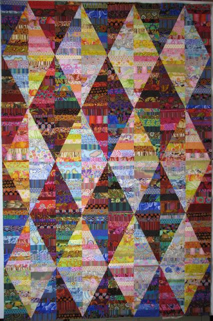 Exuberant Color - scrap quilt idea. Some day I will have enough scraps in such a wide assortment to do one of these very cool quilts