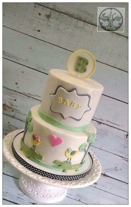 Alligator Baby Shower Cake!