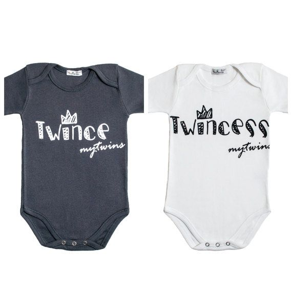 Twin Onesies Twince Twincess by myTwinsCollection on Etsy