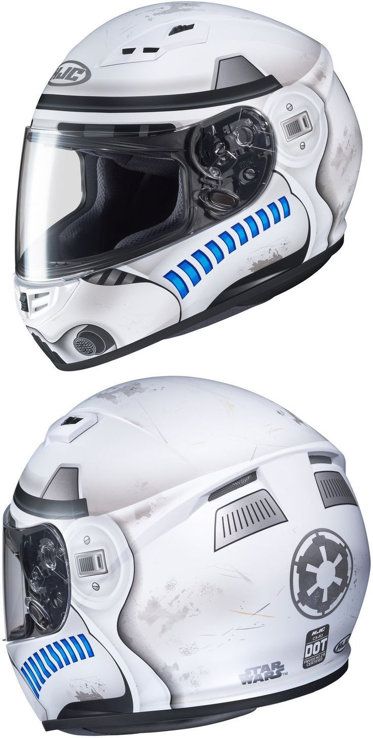 Star Wars Fans Hjc Cs R3 Officially Licensed Star Wars Stormtrooper Full Face Helmet Riders Discount Motorcycle Humor Motorcycle Boots Outfit Helmet