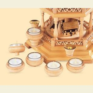 Pyramid Candle Holder for Tealights - 6 pcs.