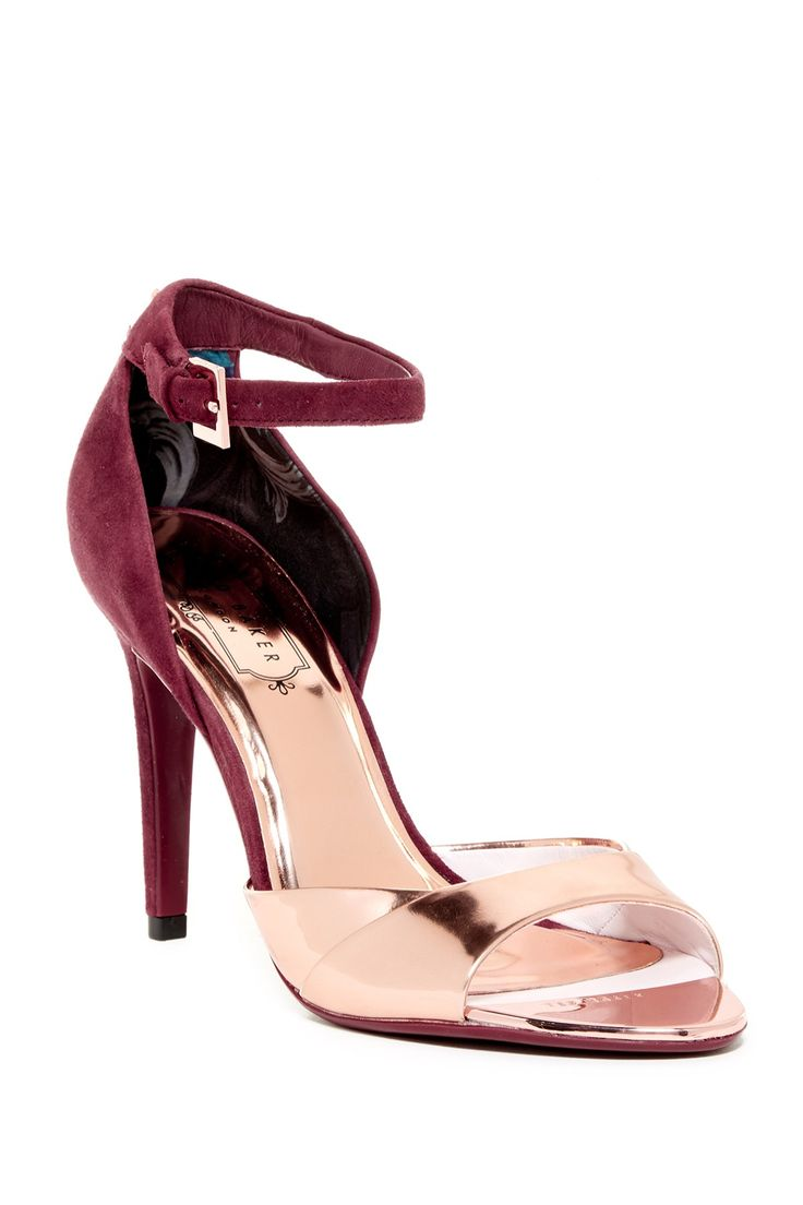 Lovely Ted Baker London Camiyl Rose Gold Ankle Strap Heel