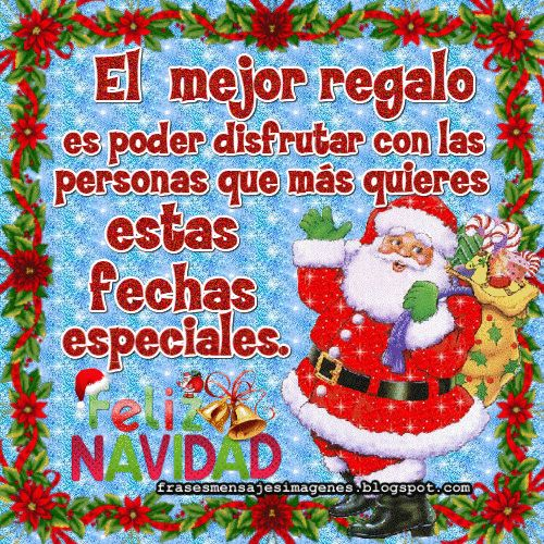El mejor regalo es poder disfrutar con las personas que más quieres estas fechas especiales. Feliz Navidad.
