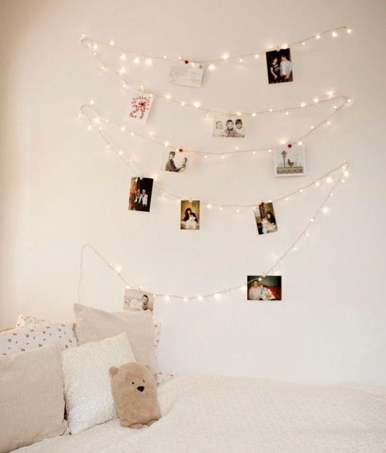 Here's 8 Ideas To Decorate Your Uni Halls Room: String Lights