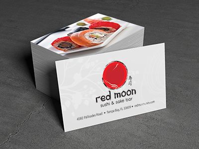 This logo and business card was designed for a client in Tampa Bay, FL. They wanted to stick to traditional colors and a Japanese theme, while still representing the trendy feel of the restaurant.