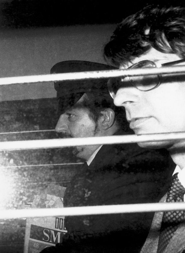 Dennis Nilsen being driven from the Old Bailey after being sentenced to life imprisonment on November 4, 1983