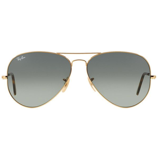 Ray-Ban Aviator Havana Collection RB3025 181/71 ($175) ❤ liked on Polyvore featuring accessories, eyewear, sunglasses, aviator sunglasses, ray ban sunglasses, aviator style glasses, ray ban glasses and ray ban sunnies