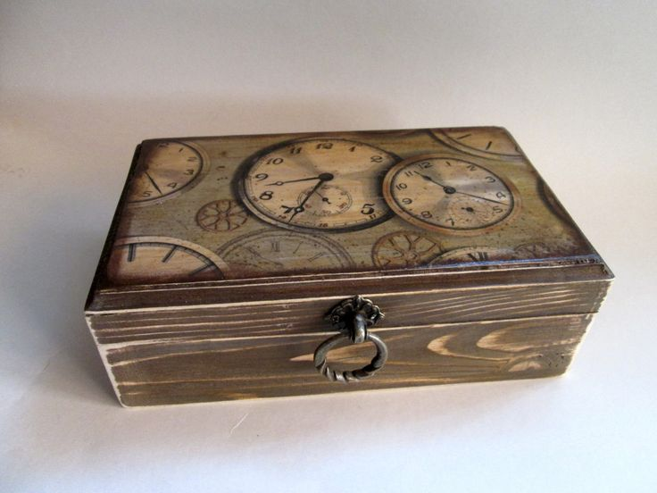 Rustic Watch Box. Personalized Watch Box. Gift For Mens. Rustic Trinket Box…