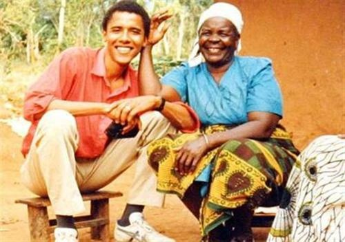 Barack Obama and his grandmother #Kenya [reposted fr: Detra Hicks]