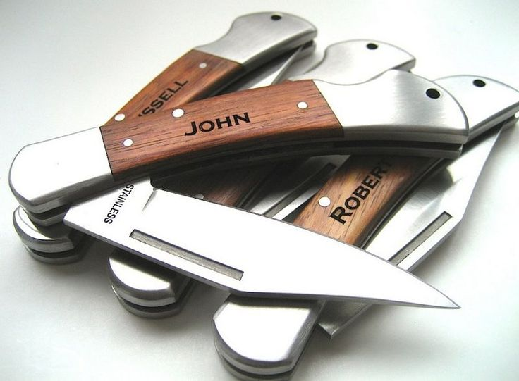 Set of 5 Personalized Knifes, Pocket Knives Engraved, Love You Gifts, Personalized Pocket Knife Groomsmen, Gifts for Dad $103.68