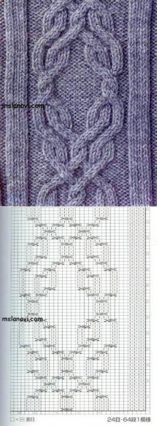 Рельефный узор спицами №15 | Вяжем с Лана Ви