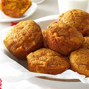 Apple Pumpkin Muffins Recipe -The combination of apples and pumpkin makes this recipe a perfect treat for cool fall day. The muffins are great for breakfast, dessert or an after-school snack. —Beth Knapp, Littleton, New Hampshire