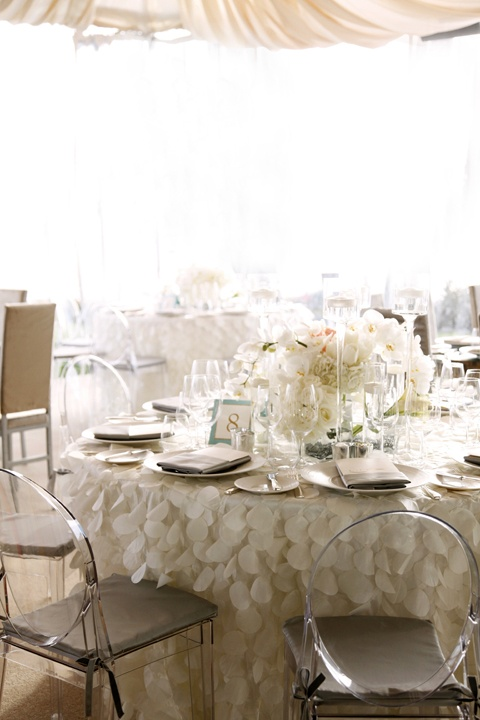 Putting glamour into a tented wedding
