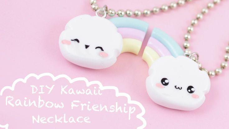 DIY Easy Rainbow Friendship Necklaces Tutorial