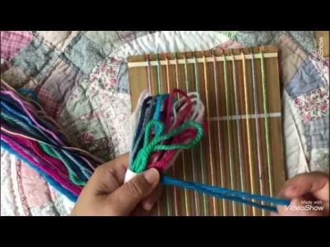 ダンボール織り機を作ったよ*幼児教育・保育*毛糸❤︎Child Education/wool/weaving loom/cardboard❤︎子ども#105 - YouTube
