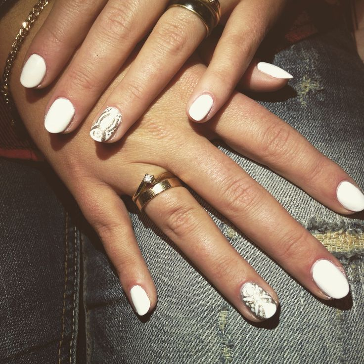 White gold nails by patloami